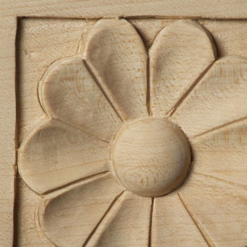 Sanford Wood Corner Block Rosette