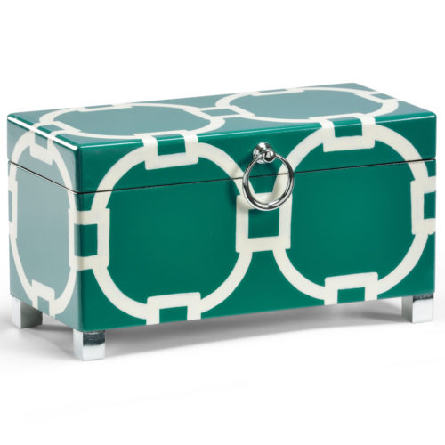 Teal and White Box
