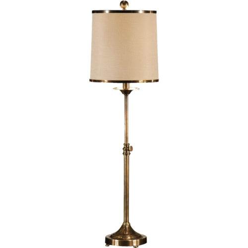 classic handcrafted table lamp with adjustable height