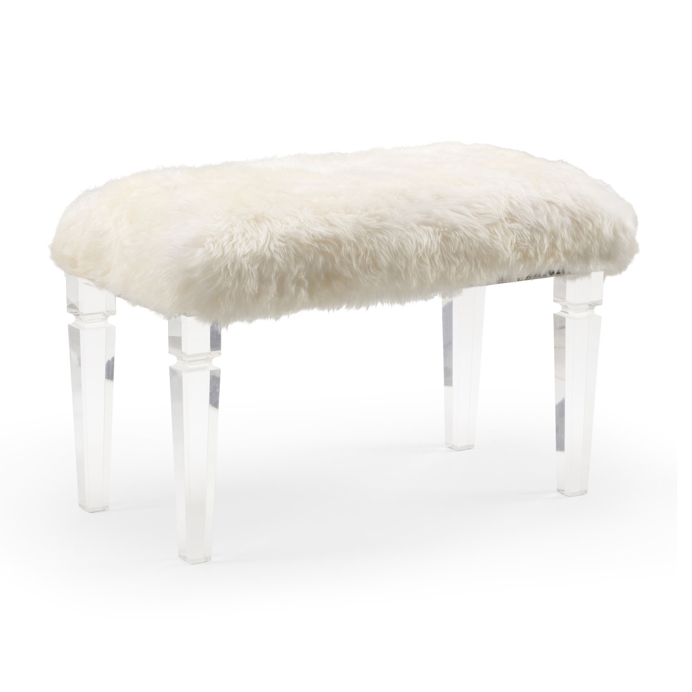 Surprising Acrylic Bench With White Fur Squirreltailoven Fun Painted Chair Ideas Images Squirreltailovenorg