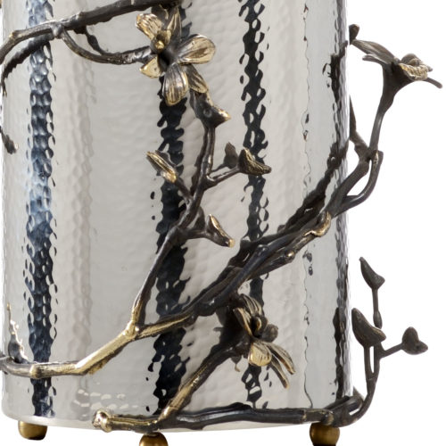 silver and nickel lamps