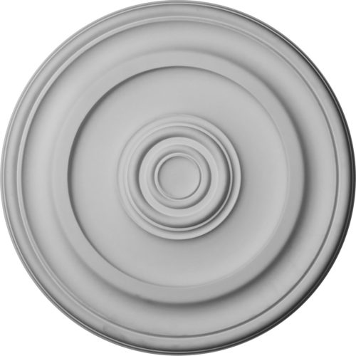 Concentric circles of the Miami ceiling medallion give architecture to a traditional as well as industrial or contemporary setting.
