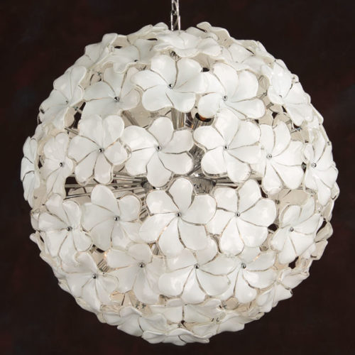 Murano Glass Floral Chandelier