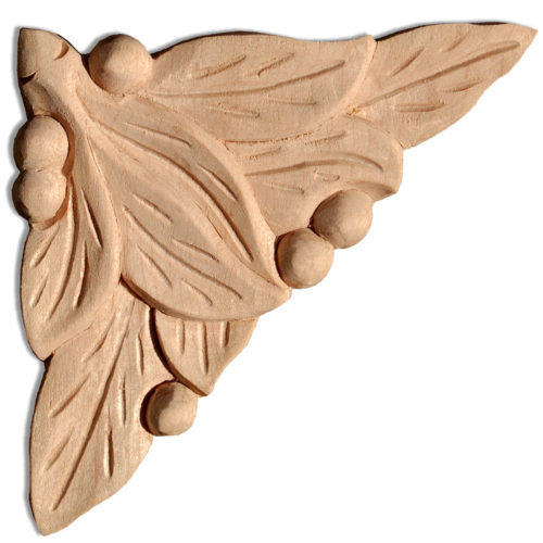 Raleigh wood plaques are carved in a deep relief with leaf and berries motif. These plaques are hand carved by skilled craftsman from premium selected hardwood