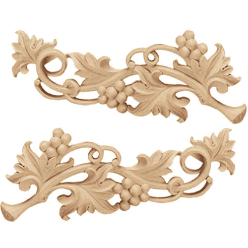 Grapevine scroll carving