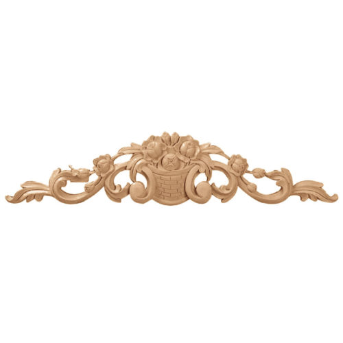 Floral crest wood carvings are hand crafted from premium selected hardwoods
