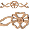 Avondale carved wood bow is hand crafted from premium selected hardwoods. Wood carvings feature carved in deep relief elegant bow