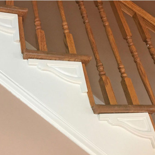 staircase with Americana stair brackets