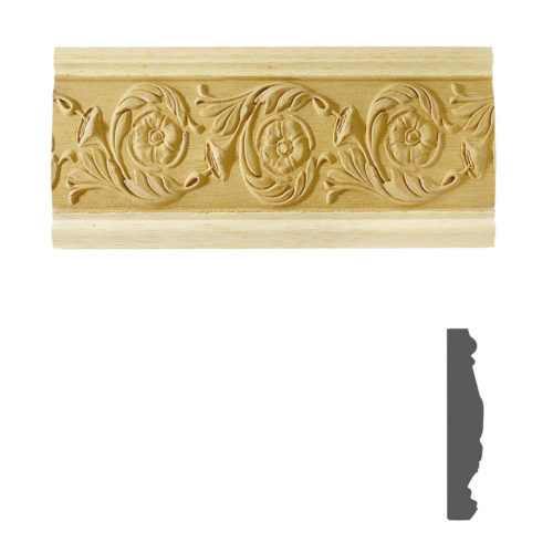 Quality carved wood frieze molding