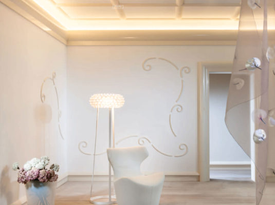 modern interior with molding for indirect lighting; modern molding ideas; interior lighting inspiration