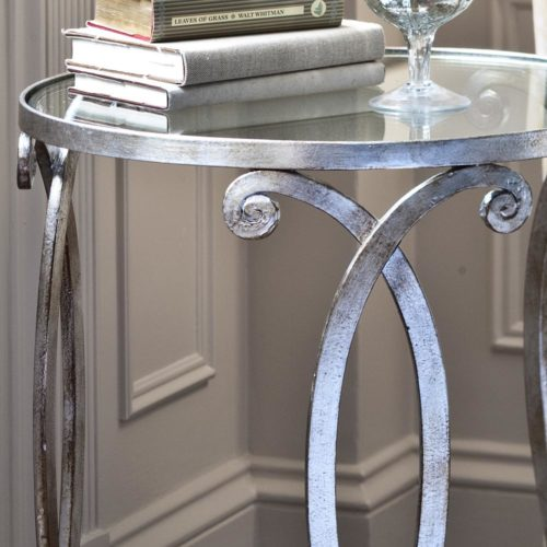 silver occasional table