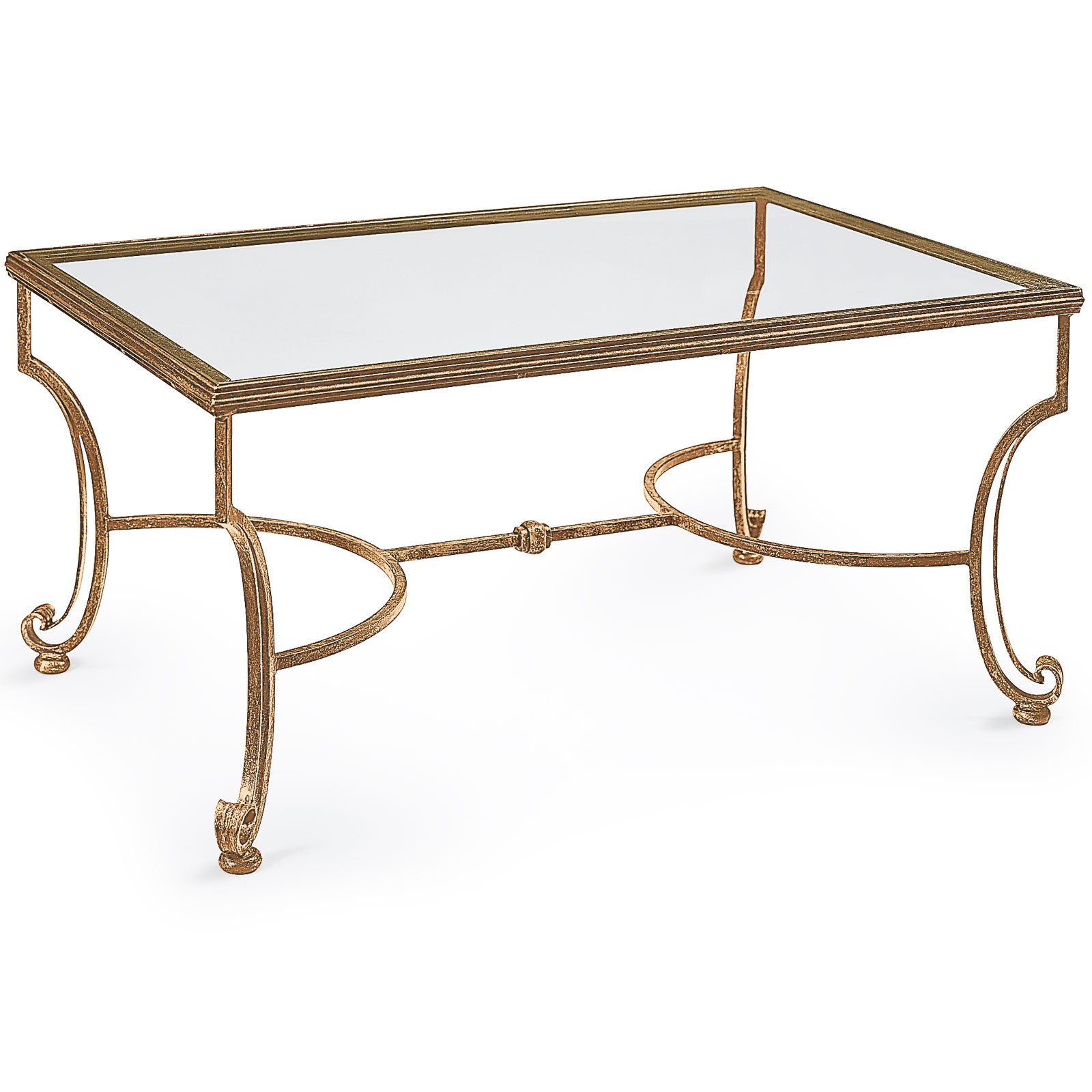 Wrought Iron Coffee Table Coffee Table In Distressed Antiqued Gold Leaf