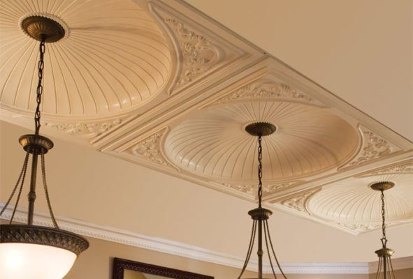 ceiling decor with ceiling domes
