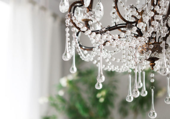 chandeliers placement; elegant crystal chandelier