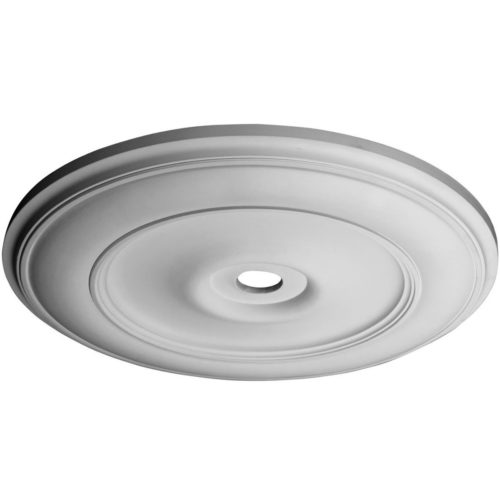 Classical large clean line medallion for ceiling is molded in deep relief design to achieve the highest degree of quality and details.