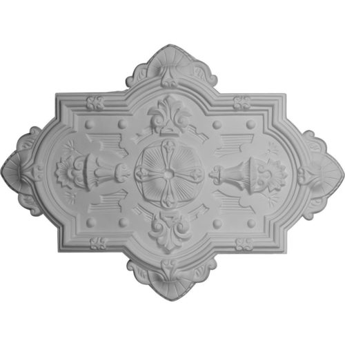 Twilight decorative medallion for ceiling is molded in deep relief design to achieve the highest degree of quality and details.