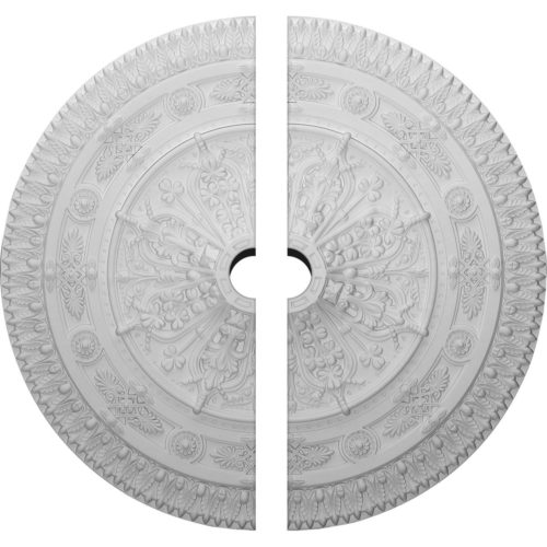 Stunning Florence ceiling medallion has an exquisite leaf and floral motif. This ceiling medallion molded in deep relief design to achieve the highest degree of quality and details.