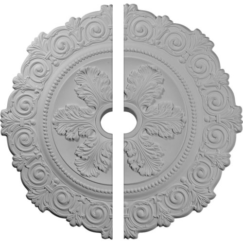 Pompano ceiling medallion molded in deep relief design to achieve the highest degree of quality and details.