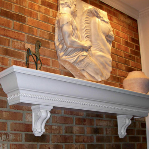 Traditional wood corbel is carved from the highest quality of wood.